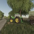John Deere 7810 am Mais fahren