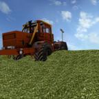 Kirovets am Mais schieben in Mecklenburg