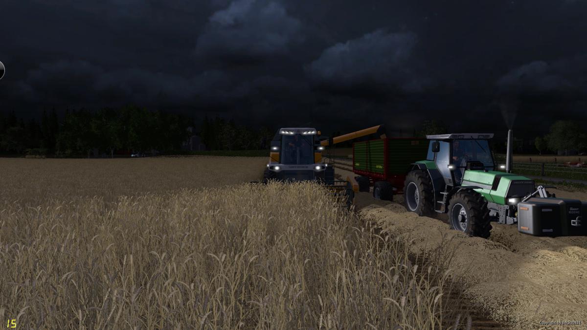 Abtanken von Weizen mit Courseplay Unterstützung