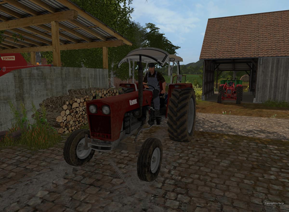 Kollege fährt Getreide verkaufen