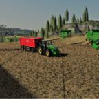 Mittelgroße Wintergersten-Ernte