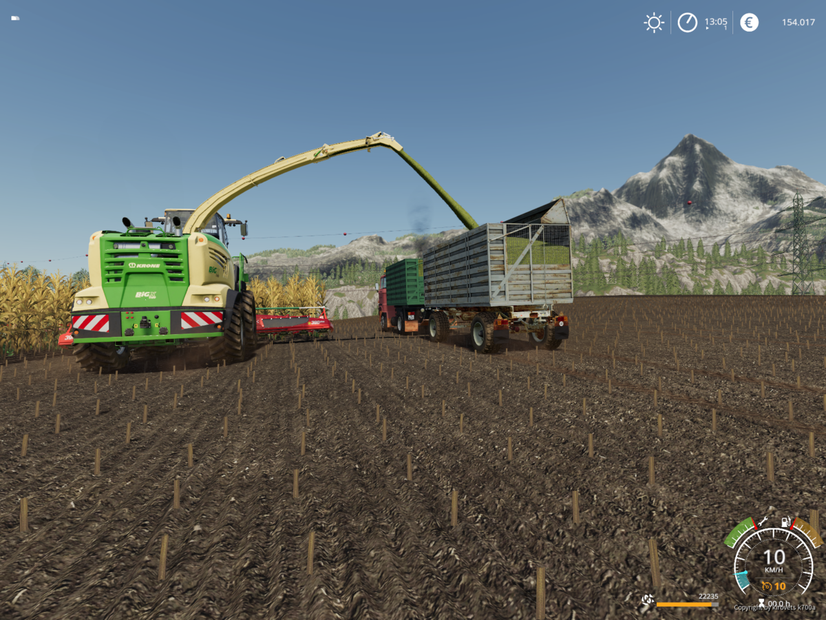 W50 beim Maisfahren