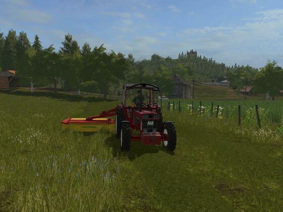 Frühjahr und die ersten schritte auf dem neuen Hof sind Heu und Grasballen machen