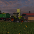 Claas Axion on Tour