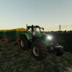 Die Weizen ernte hat begonnen
