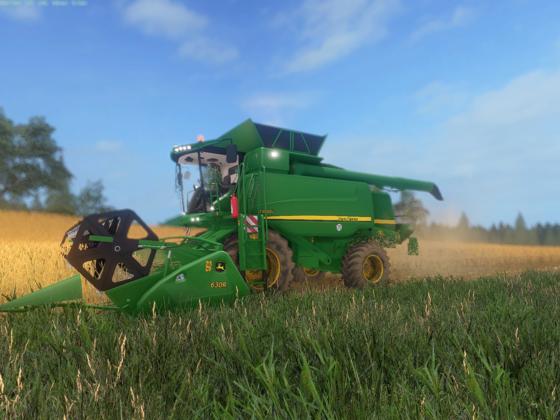 Weizen Ernte mit dem John Deer T650i