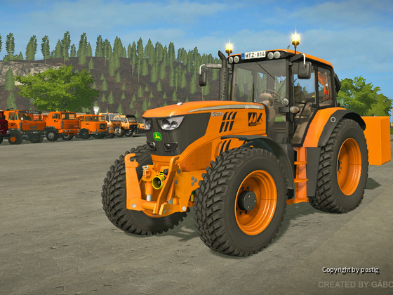 John Deere 6125M Orange - Limited edition for Magyar Közút NZRt.