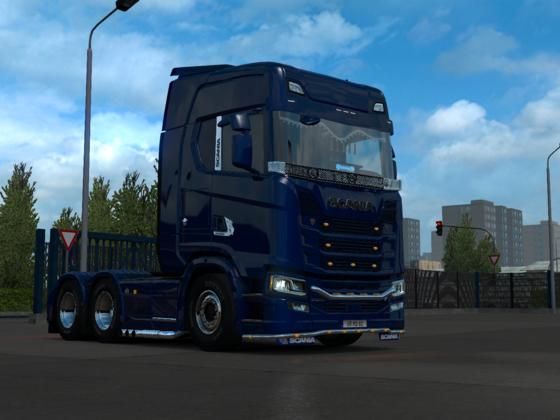 Scania in blau