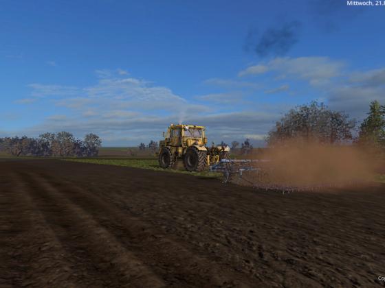 K700A bei der Arbeit in Ebsdorfer Heide