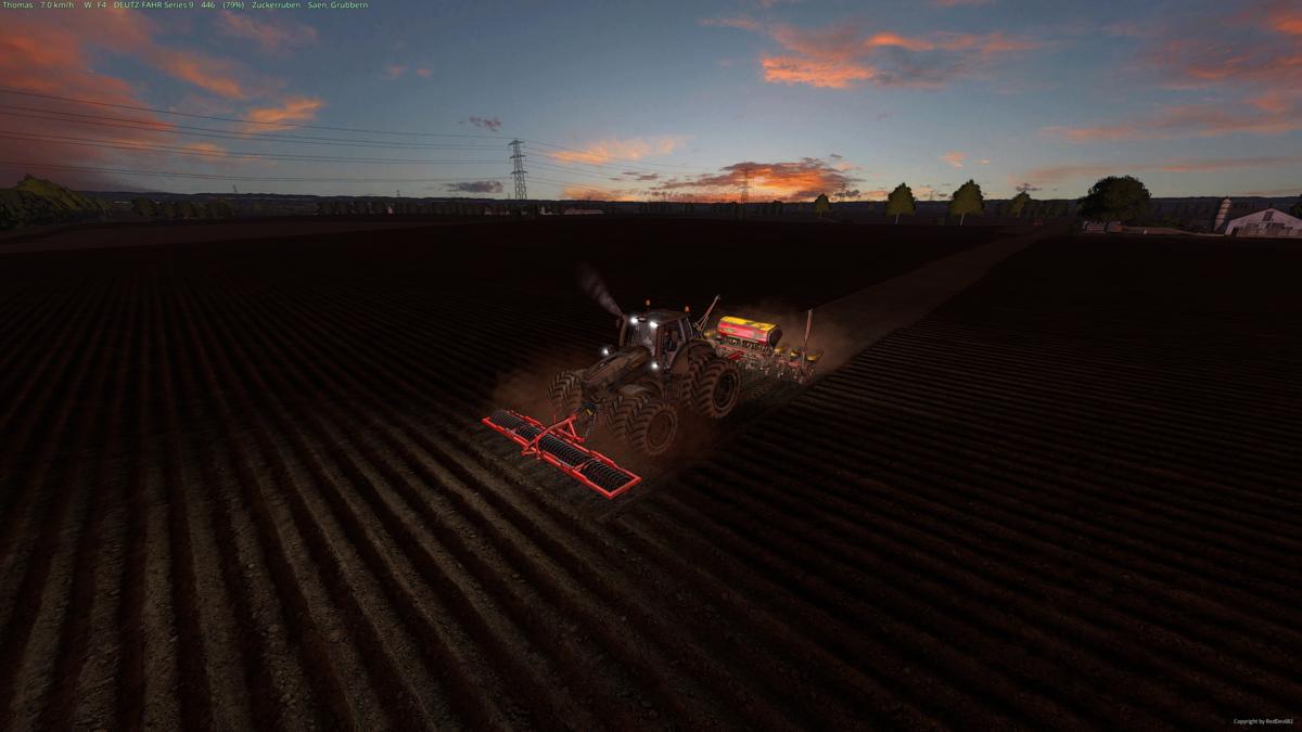 Das Feld....Der Traktor...und Ich....