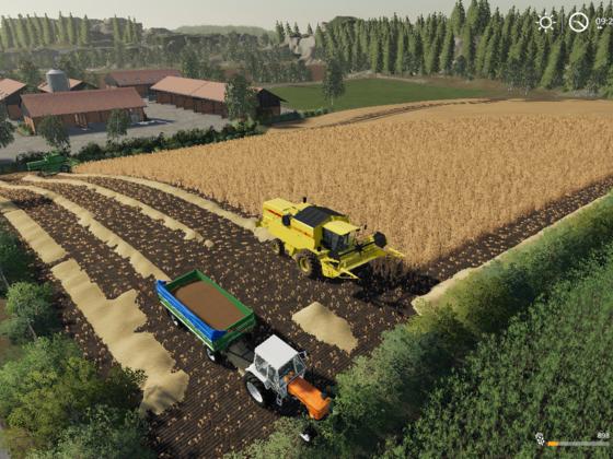 Mit 2 Dreschern beginnt die Ernte