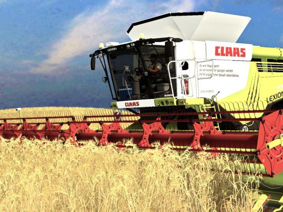 Claas Lexion 770 in der Wintergerste
