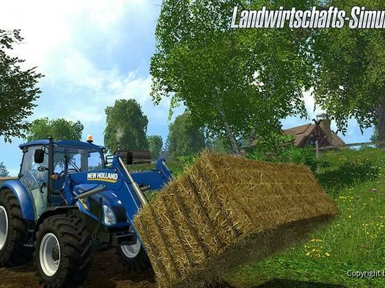 NH Traktor mit Frontlader