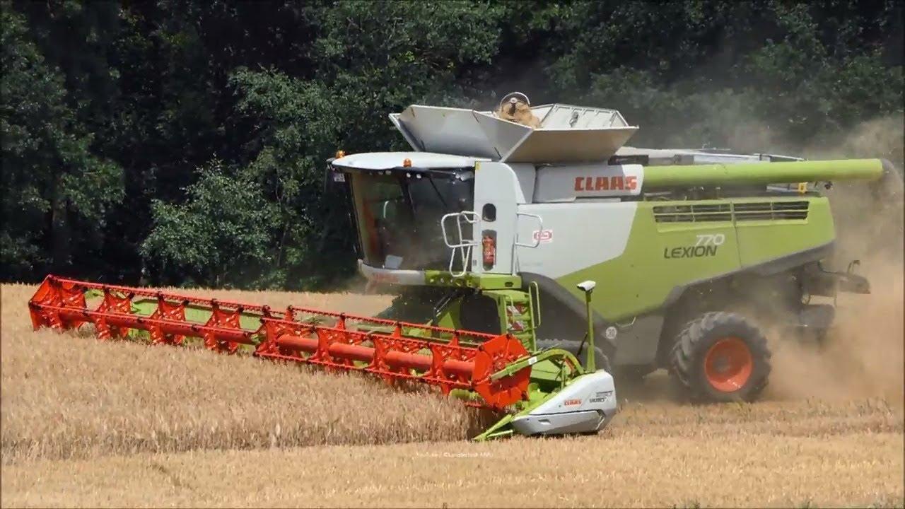 Claas-John Deere-Hawe-Kröger / Getreideernte - Grain Harvest 2018