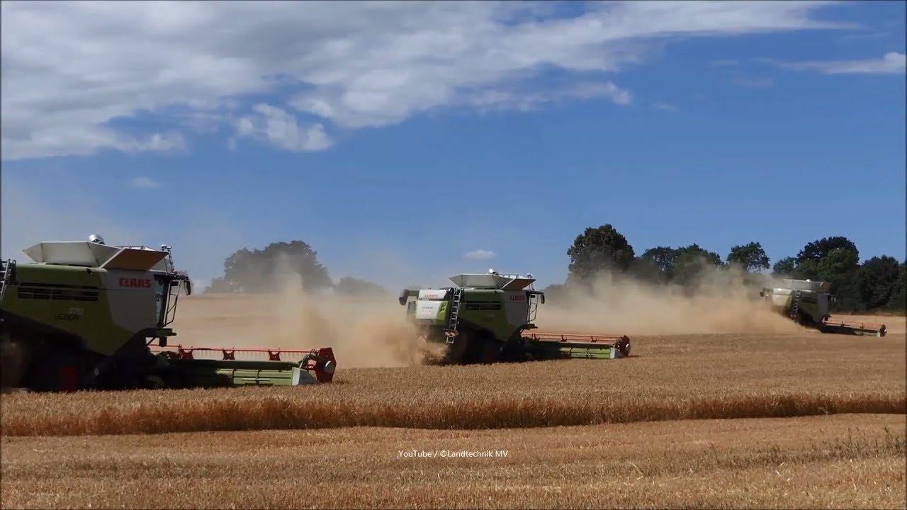 Claas-Fendt-Hawe / Getreideernte - Grain Harvest 2018  part 2/2