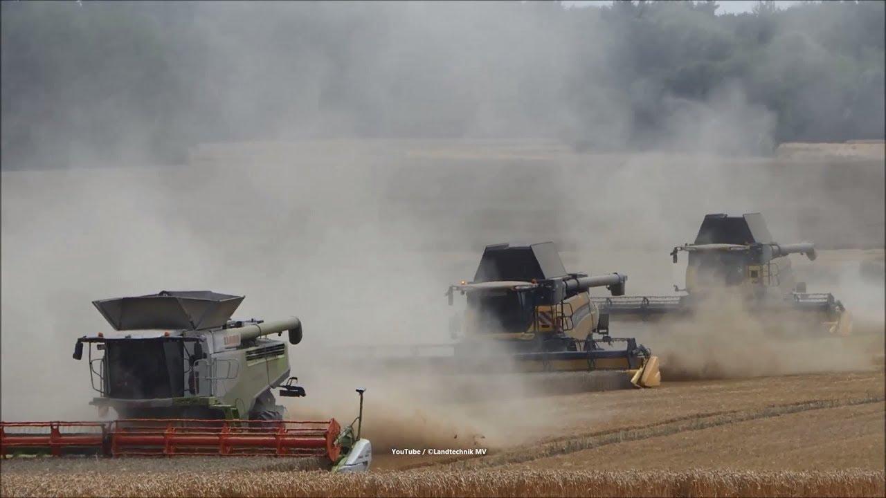 Claas-New Holland- + / Getreideernte - Grain Harvest 2018