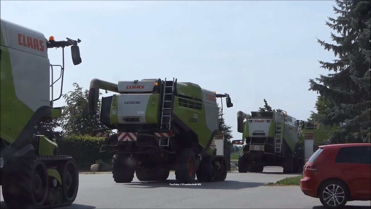 Claas-Massey Ferguson / Getreideernte - Grain Harvest 2018