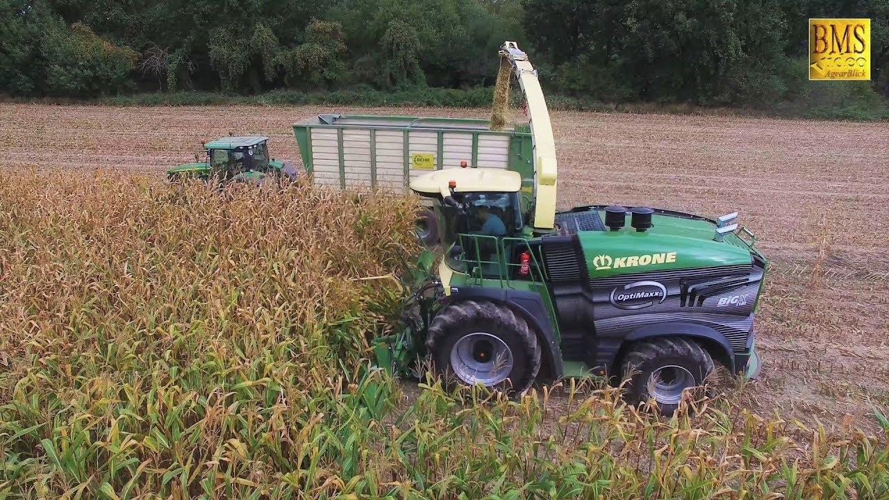 KRONE BIG X 1180 stärkster Feldhäcksler der Welt Maishäckseln worlds biggest maize harvester largest