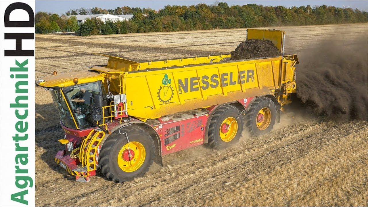 VREDO VT7028-3 Traktor | Kompost Streuen | Caterpillar Bagger