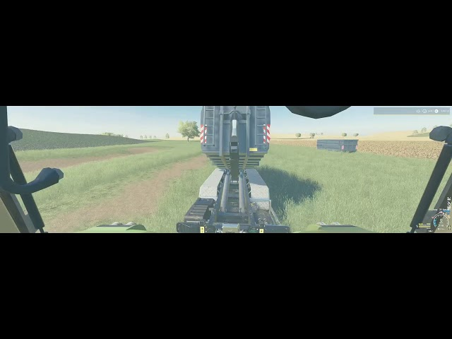 Gerste dreschen auf Feld 15