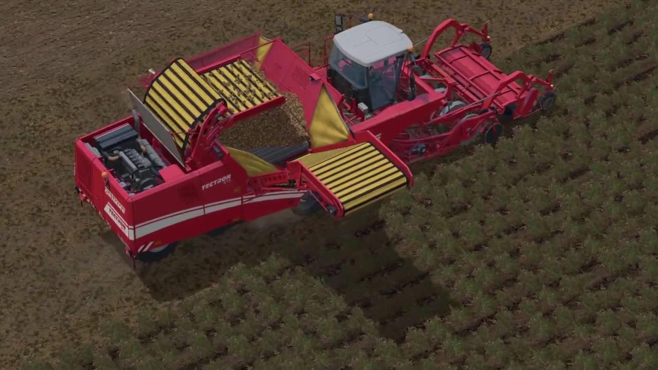 Kartoffel Ernte mit Grimme Tectron 415(Farming Simu 15)