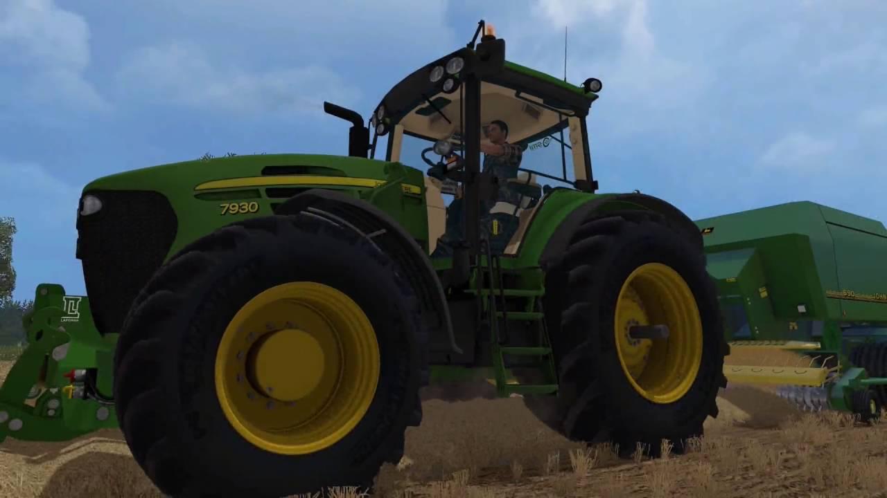 John Deere 7930 + John Deere 690 am Pressen(Farming Simulator 15)